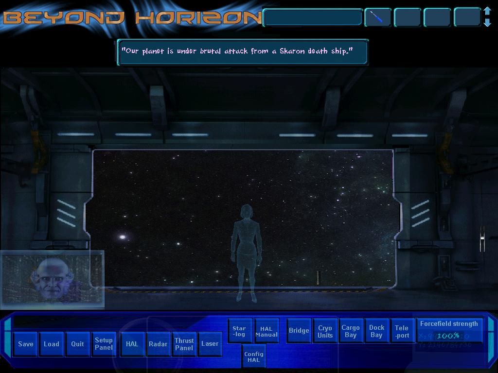 Zoomed screenshot of Beyond Horizon