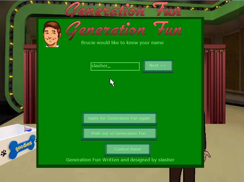Zoomed screenshot of Generation Fun