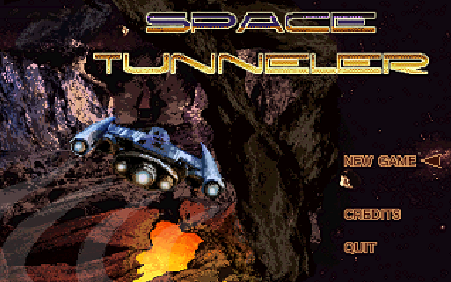 Zoomed screenshot of Space Tunneler