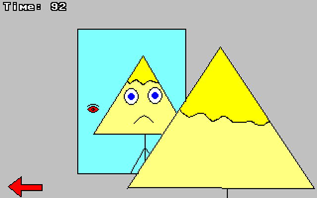 Zoomed screenshot of Triangle Head's Adventure