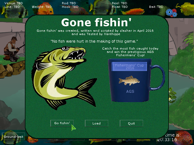 Zoomed screenshot of Gone fishin'