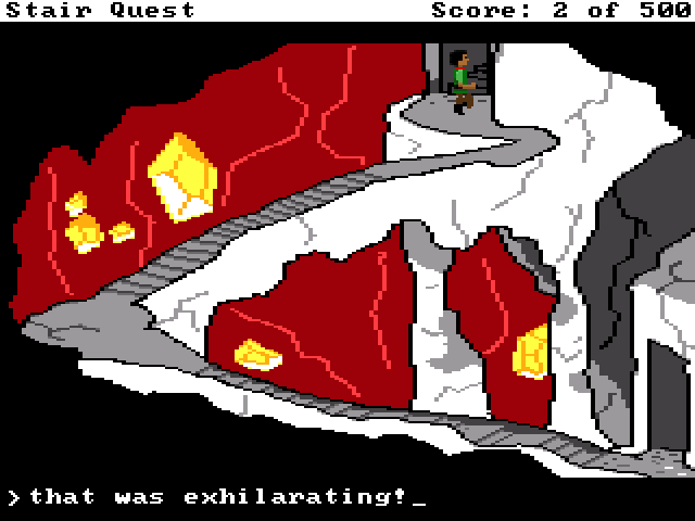 Zoomed screenshot of Stair Quest