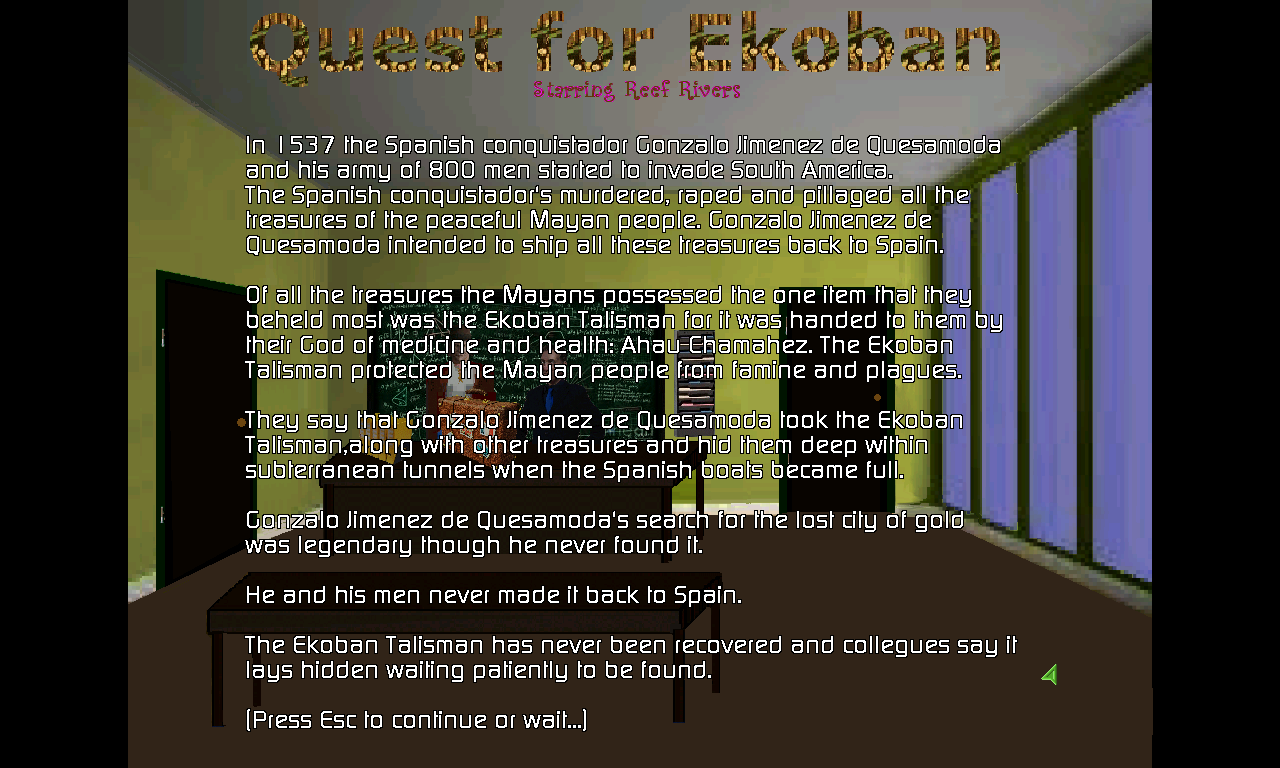 Zoomed screenshot of Quest for Ekoban