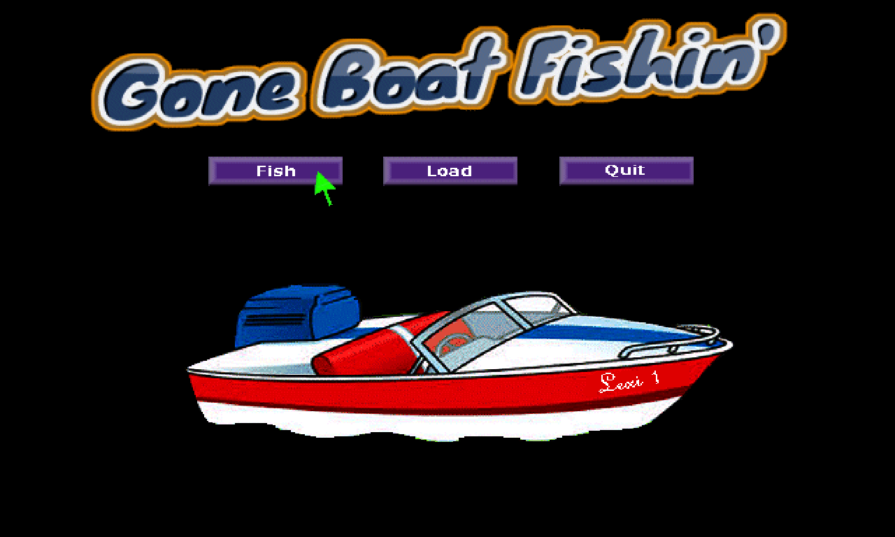 Zoomed screenshot of Gone Boat Fishin'