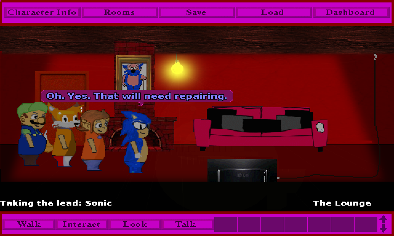 Screenshot 3 of Sonic and friends in: Club House