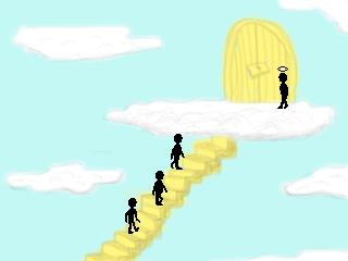 Zoomed screenshot of Three Guys Walk Into Heaven