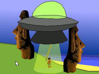 Zoomed screenshot of Easter Island Defender