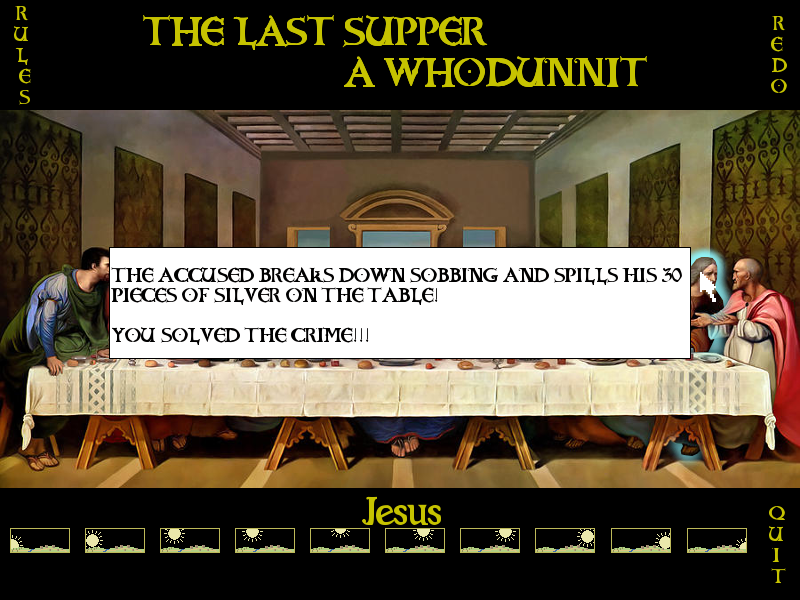 Screenshot 2 of THE LAST SUPPER, A WHODUNNIT width=