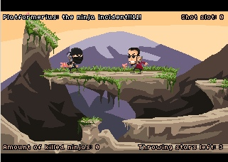 Zoomed screenshot of Platformerius: The Ninja Incident