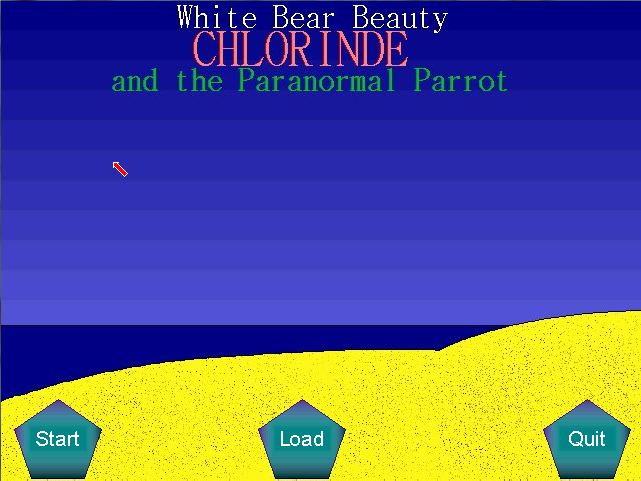 Zoomed screenshot of White Bear Beauty Chlorinde and the Paranormal Parrot