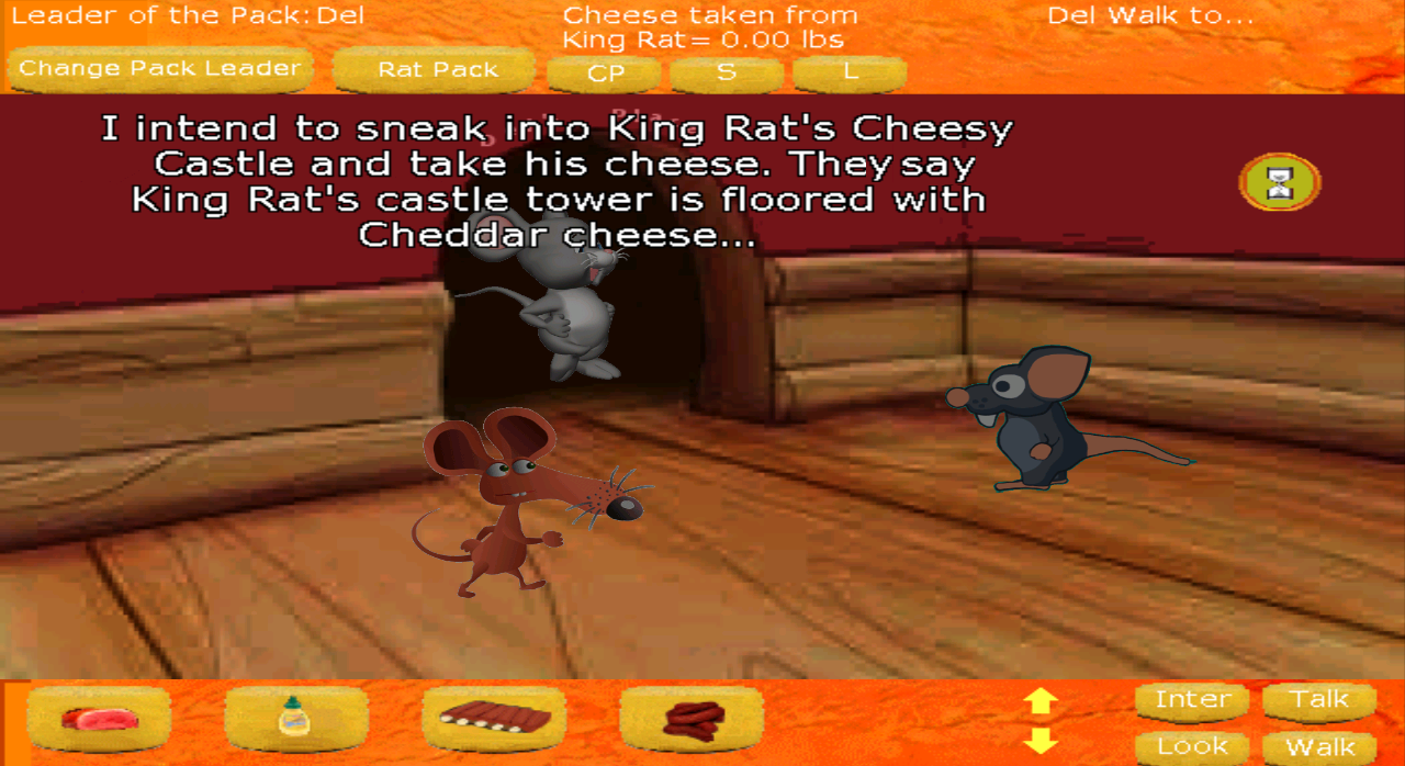 Zoomed screenshot of The Rat Pack Do Cheesy Castle