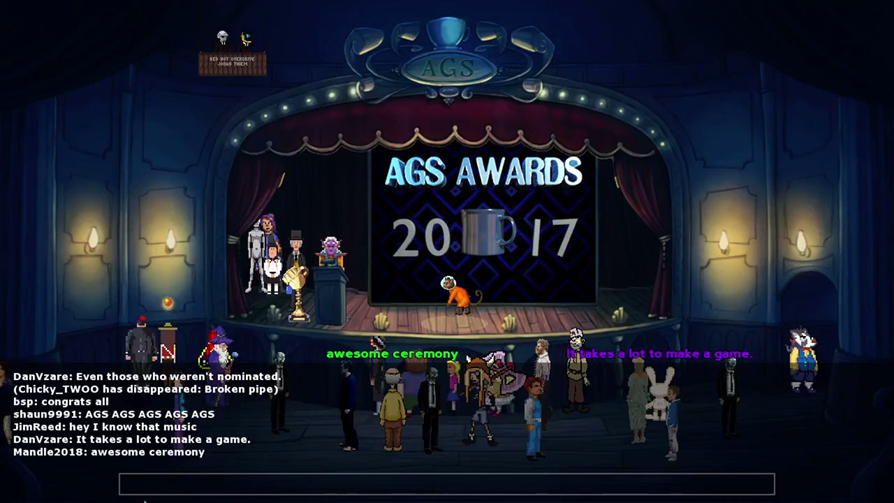 Zoomed screenshot of AGS Awards Ceremony 2017
