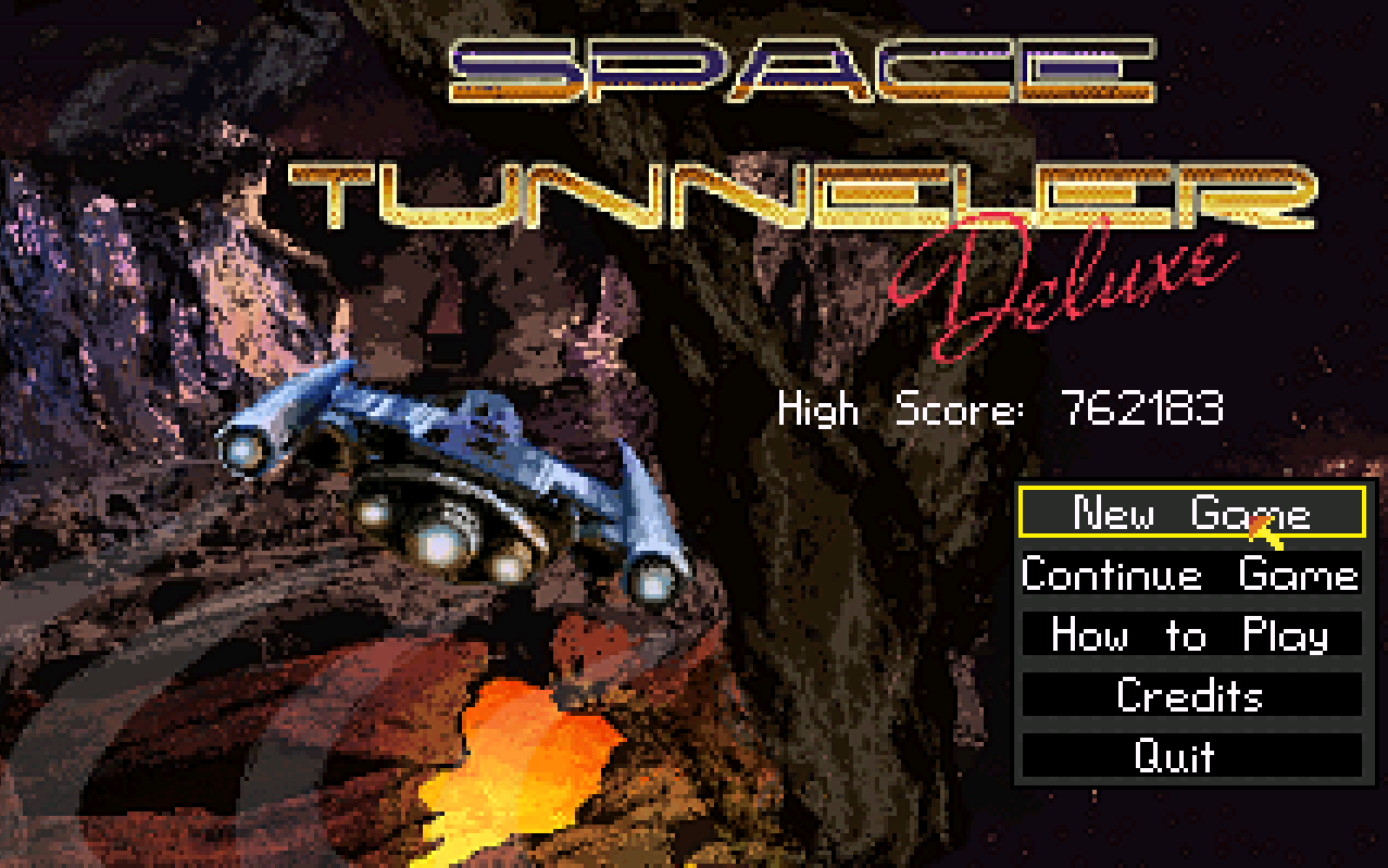 Zoomed screenshot of Space Tunneler Deluxe