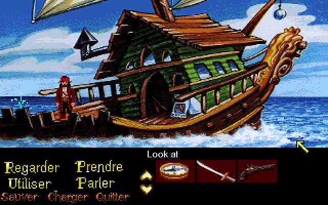Zoomed screenshot of Pirates of the Monkey Island of the Caribbean