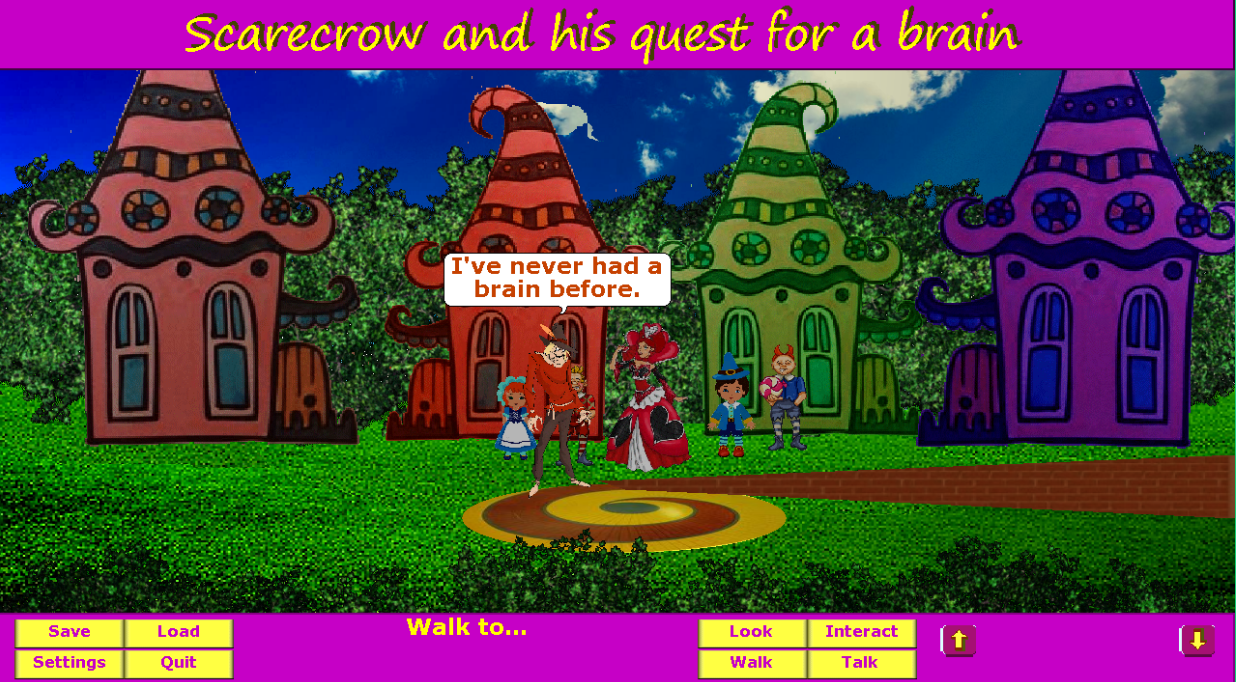 Screenshot of Scarecrow and his quest for a brain