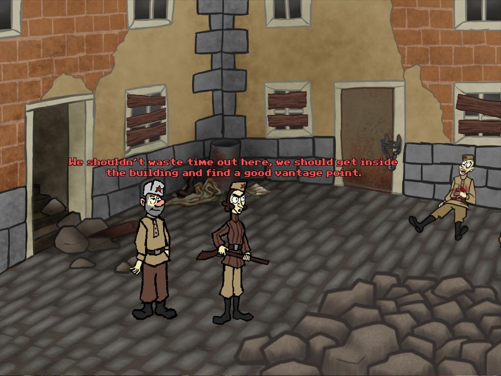 Screenshot of Sniper and spotter climbing a tower