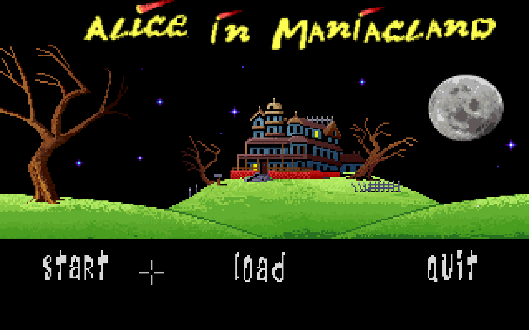 Zoomed screenshot of Alice in Maniacland