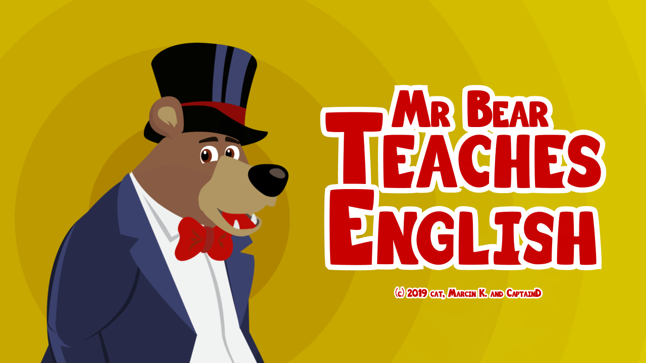 Zoomed screenshot of Mr Bear Teaches English