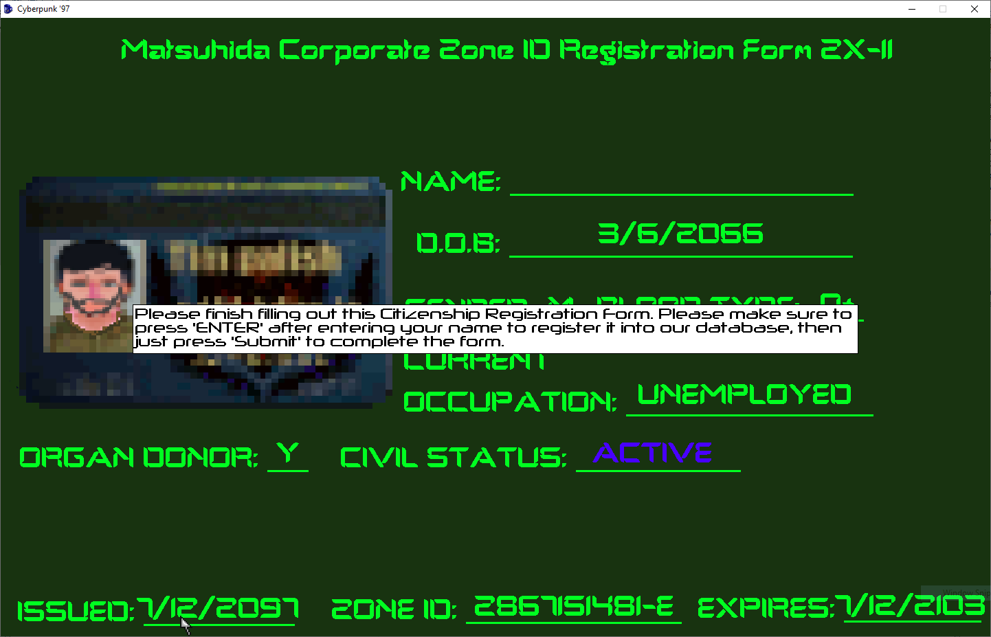 Screenshot 2 of Cyberpunk '97 -Episode 1- width=