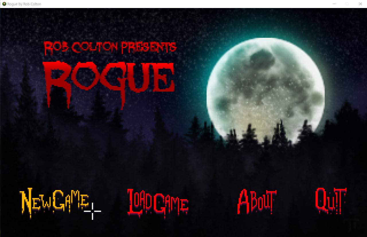 Zoomed screenshot of Rogue