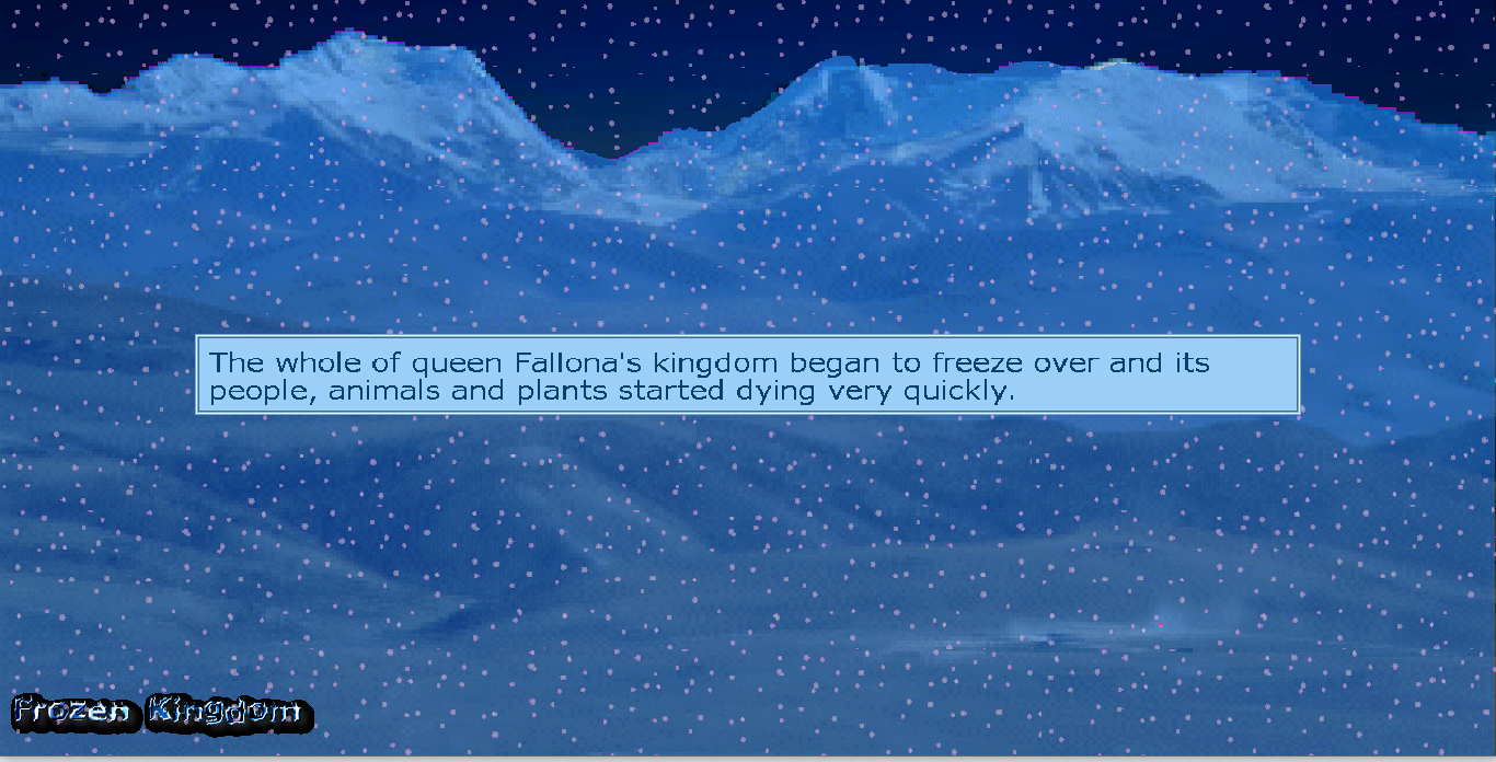 Zoomed screenshot of Frozen Kingdom