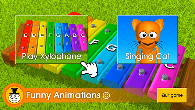 Zoomed screenshot of Play Xylophone
