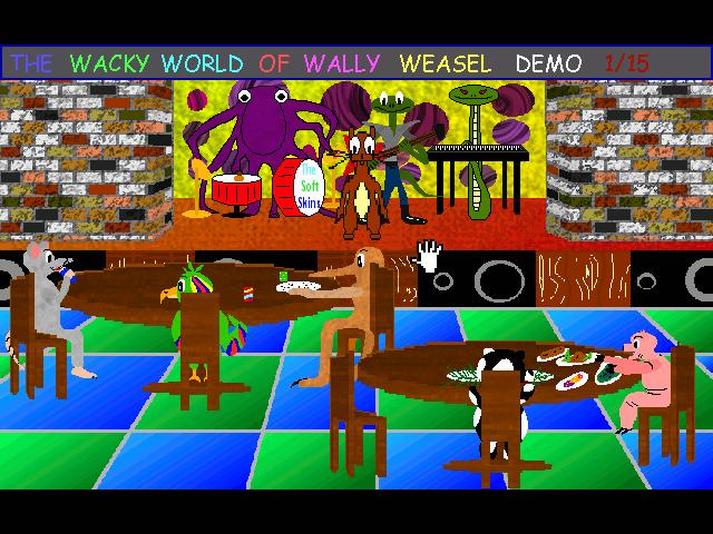 Zoomed screenshot of The Wacky World of Wally Weasel