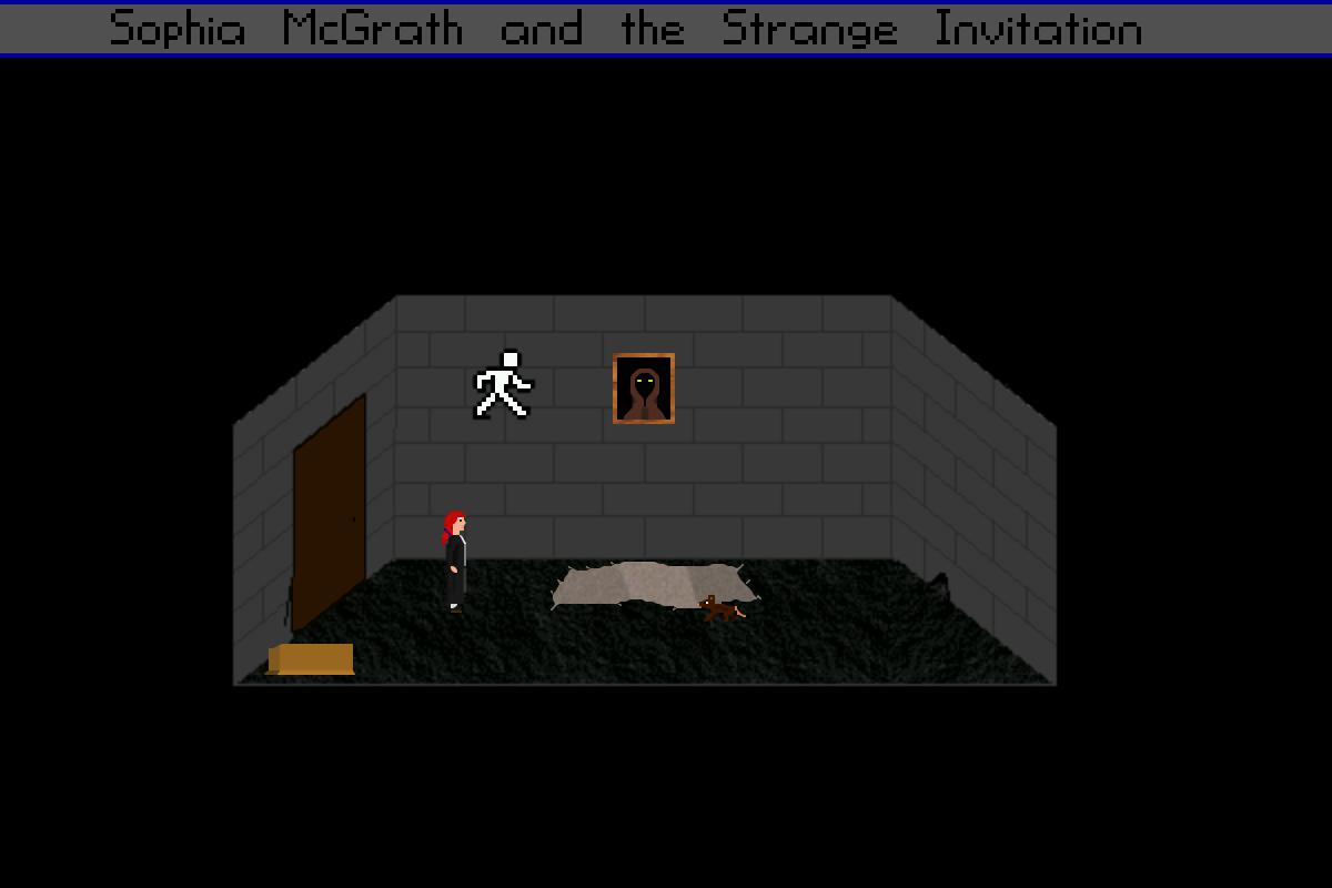 Zoomed screenshot of Sophia McGrath and the Strange Invitation