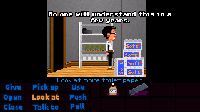 Zoomed screenshot of Maniac Mansion Mania Mini Masterpieces #4: Berthold's Return