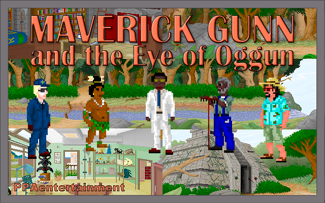 Zoomed screenshot of Maverick Gunn and the Eye of Oggun