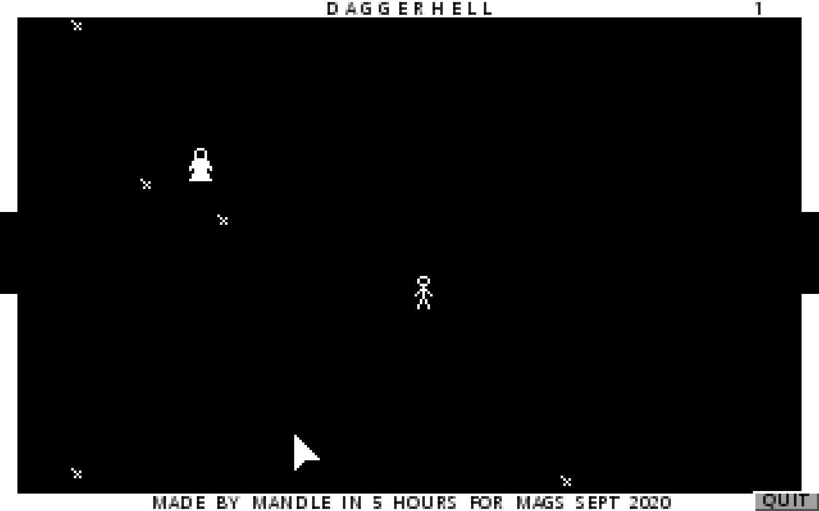 Zoomed screenshot of DAGGERHELL