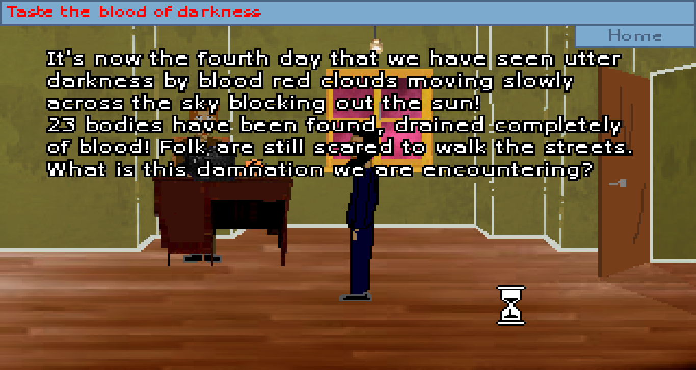 Zoomed screenshot of Taste the blood of darkness