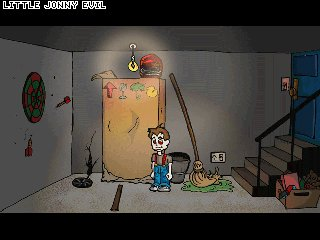 Zoomed screenshot of Little Jonny Evil