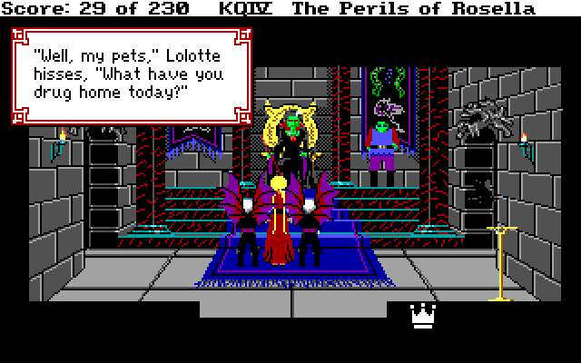 Zoomed screenshot of King's Quest IV: The Perils of Rosella Retold