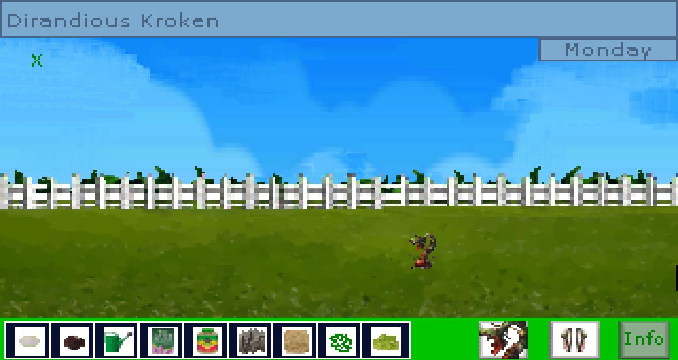 Zoomed screenshot of Dirandious Kroken