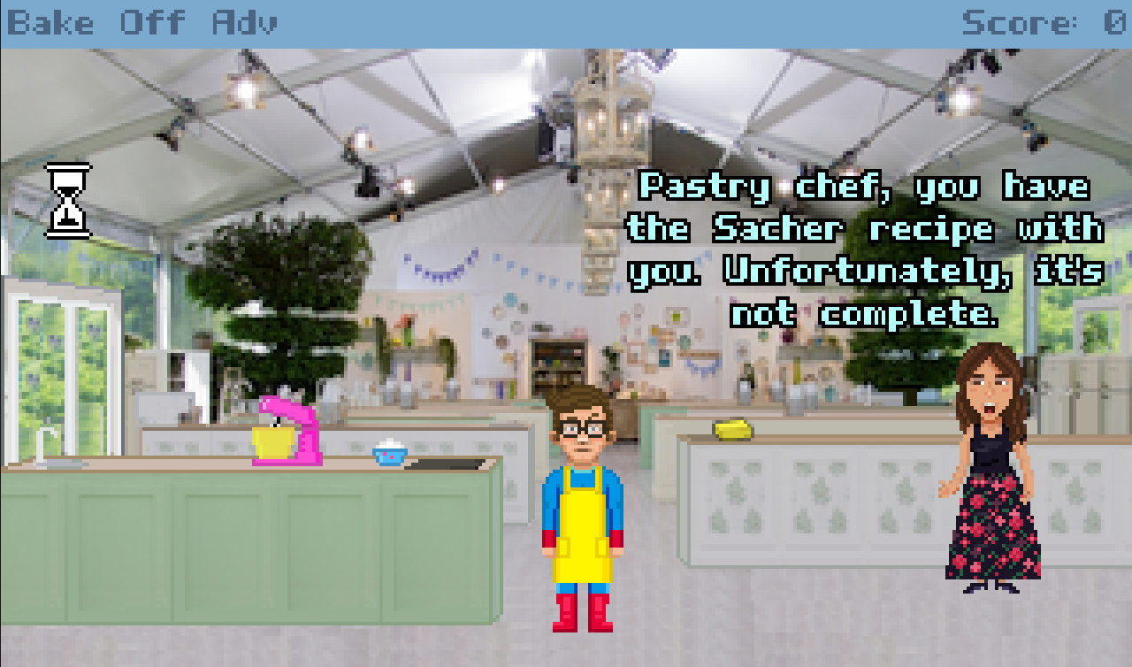 Zoomed screenshot of Bake Off Italy - The Graphic Adventure