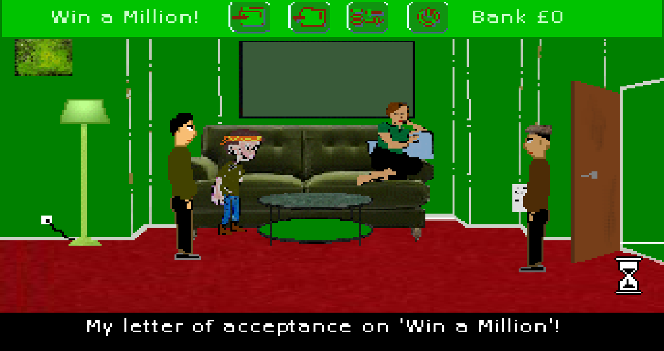 Zoomed screenshot of Win a Million!