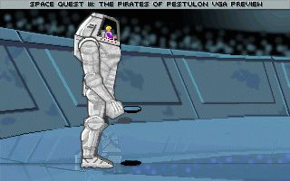 Zoomed screenshot of Space Quest 3 VGA Non-Playable Demo