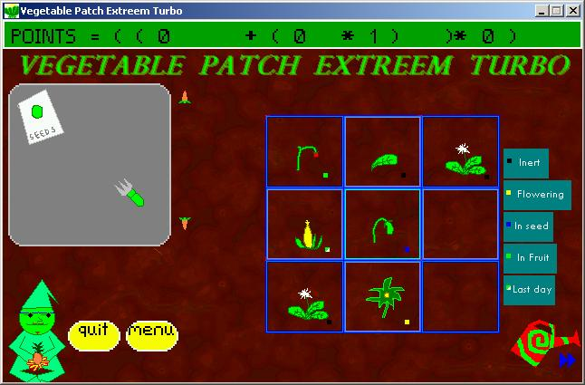 Zoomed screenshot of Vegetable Patch Extreem Turbo