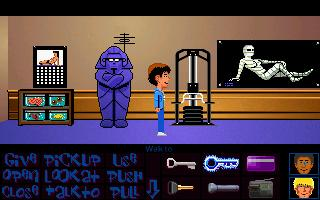 Zoomed screenshot of Maniac Mansion Deluxe