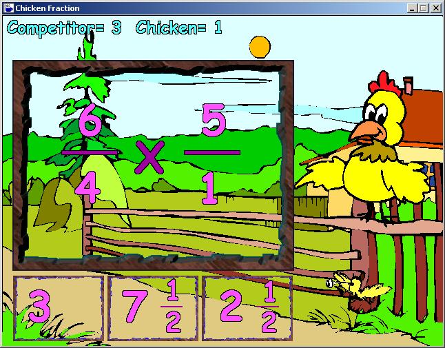 Zoomed screenshot of Chicken Fraction