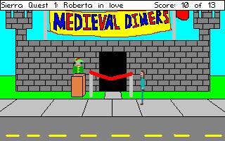 Zoomed screenshot of Sierra Quest 1: Roberta In Love