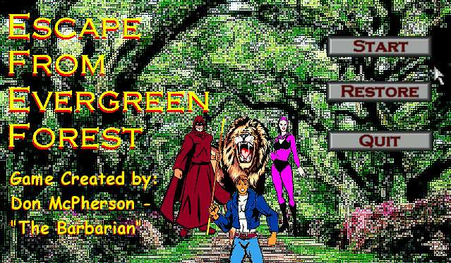 Zoomed screenshot of Escape From Evergreen Forest