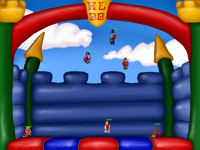Zoomed screenshot of The Historical League of Bouncy Boxing