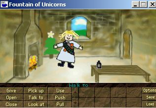 Zoomed screenshot of Princess Marian and the Fountain of Unicorns