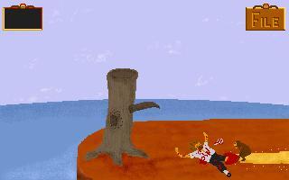 Zoomed screenshot of Sam the Pirate Monkey