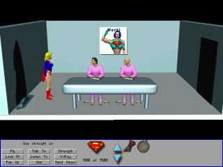 Zoomed screenshot of Supergirl in We Don't Need Another Hero