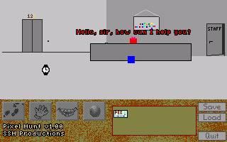Zoomed screenshot of Pixel Hunt