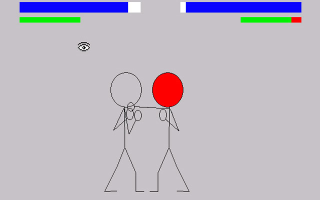 Zoomed screenshot of Ahmet's AGS Fight Game 2009 - Source Code