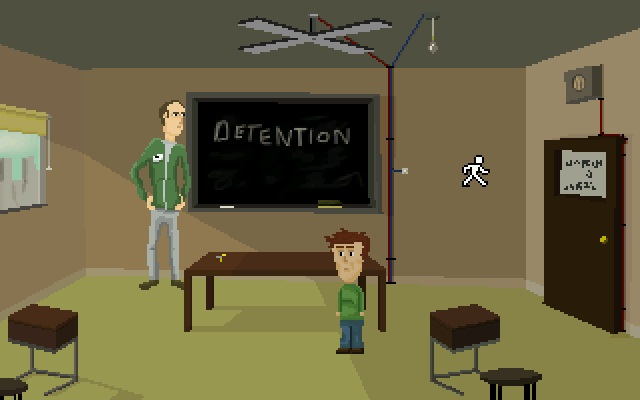 Zoomed screenshot of Detention!
